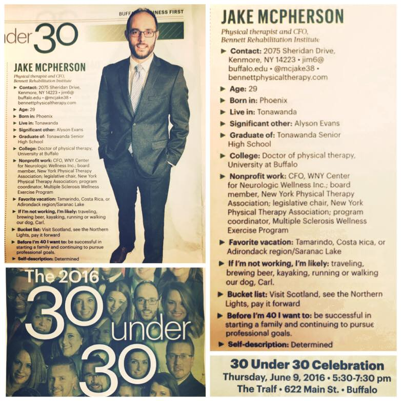 Dr. Jacob McPherson Included in the 2016 Class of Business First's 30 Under Thirty